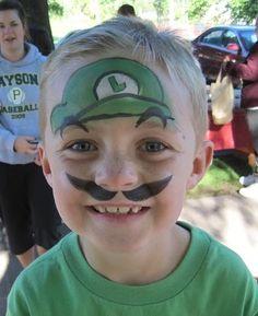 Luigi face painting