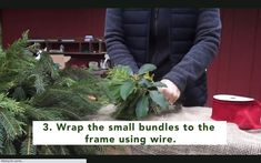 What better tasks for a wintry day than making your very own holiday wreath? All you need are a wreath frame, florist's wire, pruners, and some evergreen boughs with which to craft the wreath. Holiday Wreaths, Holiday Crafts, Holiday Ideas, Holiday Decor, Garden Paths, Garden Landscaping, Winter Holidays, Christmas Holidays, Gardening Magazines