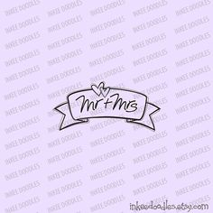 Wedding Mr and Mrs Wedding Text Doodles Cute Retro Hearts Banner Scroll Black Digital Stamp Clipart Set 30077, by Inkee Doodles, $5.50 USD for set of 17 design pieces, #Wedding #Mr #Mrs #WeddingText #Doodles #Cute #Retro #Hearts #Banner #Scroll #Black #Digital #Stamp #Clipart #Set
