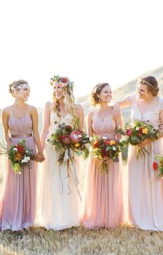 Easy-to-Love Outdoor Wedding Ideas, Milwaukee Wedding Photography inspiration with blush dresses and red and pink flowers Mod Wedding, Floral Wedding, Summer Wedding, Wedding Colors, Wedding Bouquets, Wedding Styles, Wedding Flowers, Dream Wedding, Wedding Bride