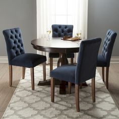 Dining chairs on ends