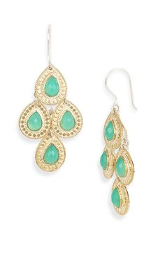If you do not own a pair of Anna Beck earrings...you must get some! They are a great investment that you will never regret...you'll wear them ALL the time! These are the 'Gili' stone chandelier earrings...