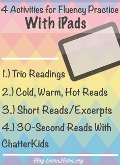 Are you using your ipads to improve student fluency? If so, don't miss these simple activities!