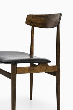 Erik Buck Rosewood and Leather Side Chair for O D M¸bler 1957