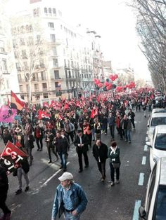 anarchosyndikalist demonstration, madrid 2014