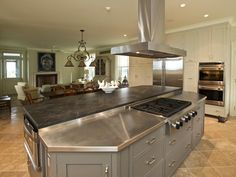 Custom stainless kitchen items by Focal Metals.  Many other excellent items and pleasing open spaces in this picture.