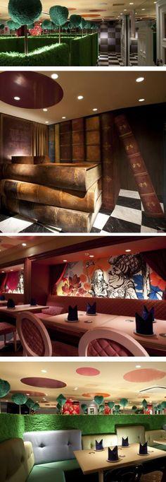"""Alice of Magic World"" in Tokyo Japan (an Alice in Wonderland Restaurant)"