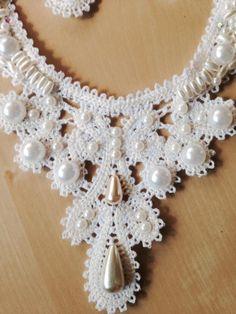 Advanced Embroidery Designs - FSL Battenberg Regency Necklace and Earrings Set