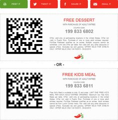 Pinned April 19th: Free dessert or kids meal with your entree at #Chilis #coupon via The #Coupons App