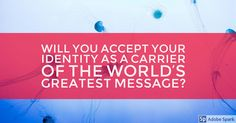 If your identity is found in Christ, don't you want others to know?!
