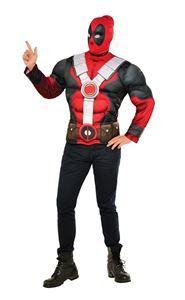 Deadpool Teen Muscle Shirt & Mask - 381312 | trendyhalloween.com