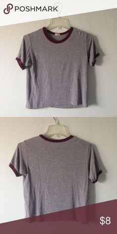 Brandy Shirt Super cute ringer tshirt from John Galt Brandy Melville Tops