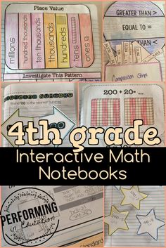 4th Grade Interactive Math Notebooks - these are from her Numbers in Base Ten NBT resource but all of her notebooks are awesome!
