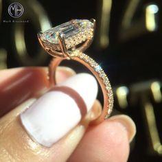 Dream emerald engagement ring.