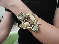 Bracelet handmade in aged varnished brass with by CRISDONATI