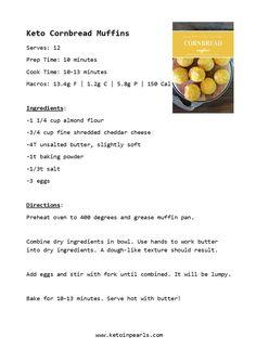 "Keto ""Cornbread"" Muffins | Keto In Pearls | A Ketogenic Lifestyle Blog"