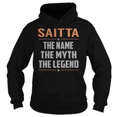 Awesome Tee SAITTA The Myth, Legend - Last Name, Surname T-Shirt T-Shirts