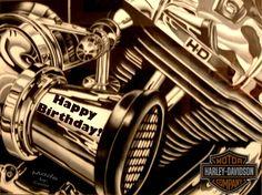 Happy birthday, Happy and Birthdays Biker Birthday, Birthday Board, Birthday Memes, Happy Birthday Man, Happy Birthday Greetings, Happy Birthday Harley Davidson, Harley Davidson Posters, Happy Anniversary, Birthdays