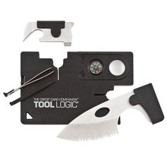 This pocket size toolkit is as thin as a credit card so it can easily fit in your wallet. Aside from being as thin as a credit card, this toolkit includes a knife, compass, magnification lens, tweezers, screwdriver, bottle opener, and a toothpick! -- gift for him, gift for family