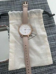 Fossil Jacqueline Quartz Blush Leather Strap ES3988 Women's Watch 4053858645370 | eBay Watches Women Fossil, Fossil Jacqueline, Watch Display, Tool Set, Blush, Quartz, Best Deals, Lady, Leather
