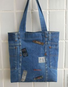 New diy bag denim upcycle 70 Ideas Diy Bags Jeans, Denim Tote Bags, Diy Bags Purses, Denim Purse, Diy Tote Bag, Artisanats Denim, Blue Denim, Denim Skirt, Denim Bag Patterns