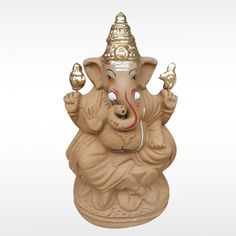 Make this #GaneshChaturthi more auspicious with this unique Eco friendly Kamala Balmuri #GaneshIdol made with organic clay and natural colors.  #BringHomeFestival