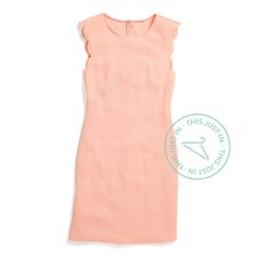 Stitch fix spring 2016 Blush scalloped dress -LOVE this color and pretty scalloped trim. Also looks like it has a nice shape. Cute Dresses, Cute Outfits, Pink Dresses, Work Outfits, Casual Outfits, Stitch Fit, Scalloped Dress, Stitch Fix Outfits, Stitch Fix Stylist