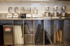 3 stand mixers... all those sheet pans! In Martha Stewart's #testkitchen