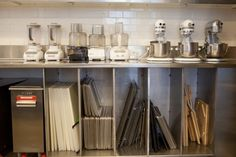 3 stand mixers... all those sheet pans! In Martha Stewart's #testkitchen
