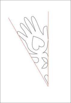 Corazón en la mano del copo de nieve - PAPEL DE ARTESANÍA, el scrapbooking y ATCs (CARDS comercio del artista)