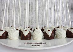 Wedding Cake Pops: Bride and Groom by niner bakes, via Flickr
