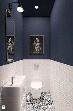 93 Cool Black And White Bathroom Design Ideas - Barcelona 93 Co. Bathroom Wallpaper, Bathroom Wall Decor, Bathroom Colors, Bathroom Interior Design, White Bathroom, Bathroom Flooring, Modern Bathroom, Bathroom Ideas, Bathroom Organization