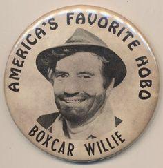 America's Favorite Hobo -Boxcar Willie pin