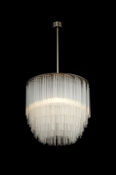 Disc Chandelier Ceiling Light | Tom Kirk Lighting | made from glass pipettes