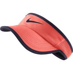 Nike Women's Featherlight Tennis Visor, Size: XS/S, Bright Mango/Purple Dyna Golf Fashion, Fashion Hats, Sports Caps, Visor Hats, Visors, Cute Hats, Ladies Golf, Sportswear, Tennis
