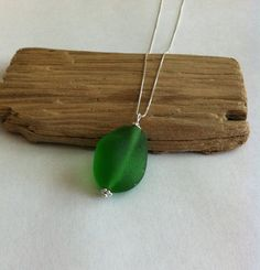 Genuine Sea Glass Necklace With Sterling Silver Box by TulaTinkers, $25.00