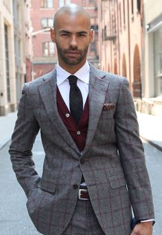 Fall/Winter 2013 - Lazio Grey Check | Suitsupply...Nice suit on a handsome man...