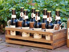I want a few of these!! Maybe even a growler size version.  Handmade Wood 8Bottle Beer Carrier Homebrew Gift by jupalada, $60.00