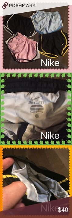 All Nike brand shorts! Nike shorts great deal on a bundle of 4! All have the built in liner! Super comfortable and stylish! 💋💋 Nike Shorts