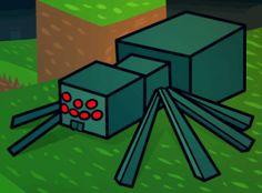 How To Draw A Minecraft Spider, Minecraft Cave Spider by Dawn Minecraft Ender Dragon, Minecraft Spider, All Minecraft, Minecraft Cake, Lunchbox Notes For Kids, Spider Drawing, Minecraft Birthday Cake, Minecraft Drawings, Minecraft Characters