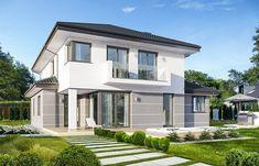 Kasjopea 7 - zdjęcie 2 Duplex House Design, Design Case, Home Fashion, Architecture Design, House Plans, New Homes, Villa, Mansions, House Styles