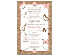 Charming Rose & Butterfly Girl Baby Shower by BDesigns4You on Etsy, $12.99