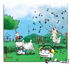 Week nineteen: Music #goat #kids #billy #music #noise #earmuffs