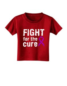 TooLoud Fight for the Cure - Purple Ribbon Alzheimers Disease Toddler T-Shirt Dark