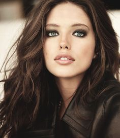 Emily DiDonato. Smokey eye and nude lip. Beautiful Makeup and hair.