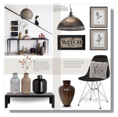 """""""Home decor"""" by bogira ❤ liked on Polyvore featuring interior, interiors, interior design, home, home decor, interior decorating, Kartell, Nuevo, Crate and Barrel and H&M"""