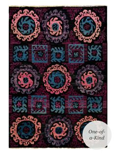 """One-of-a-Kind Hand-Knotted Rug (8'9""""x6'2"""") from Standout Accents on Gilt"""