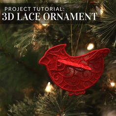 Add a 3D lace ornament to your Christmas tree! From Embroidery Library