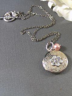Pink Pearl locket $25