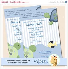 SALE  ends 1/31 Turtle Reef Baby Shower or by AllPetsCherished, $14.00